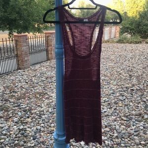 Urban Outfitters BDG Maroon Lined Long Tank Top